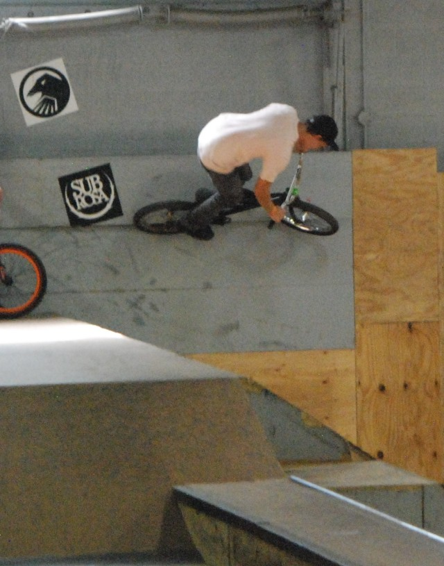 Dan Depre - wall slap in the back corner.  He took home a 2nd in Expert Dirt along with some cool prizes from Shadow and Subrosa.