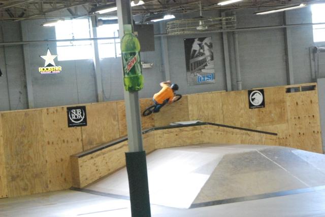 Josh Thomas - wallride over the rail box