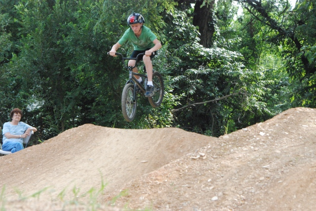 Knobbie tires and 4130 Chromoly - Jamie Gilbert (13) gets his BMX on in Beginner Dirt.