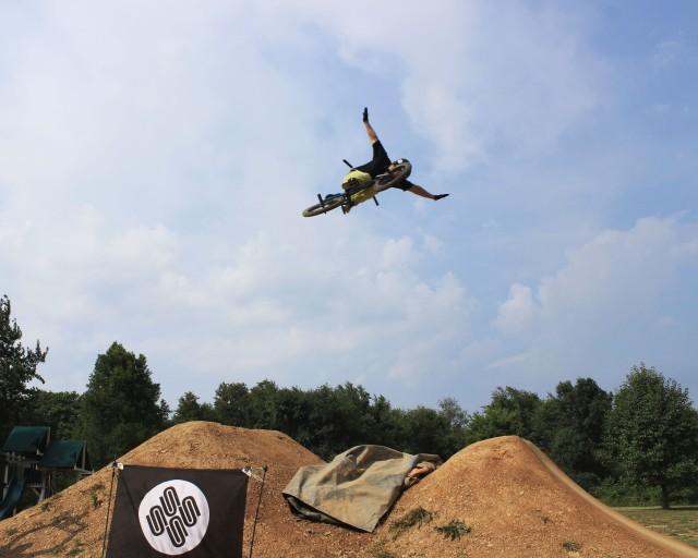 Blasting big air - another killer 360 no hander by Expert Dirt winner Jordan Prince.   (Photo: Nilo Hodge / ECD)