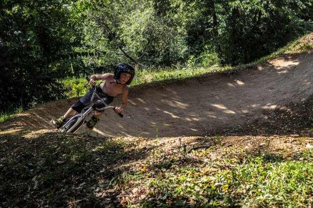 10 year old Rider Delfino layed down some smooth runs for 1st place in Beginner Dirt.  He even carves berms like the big guys.  (Photo: Nilo Hodge / ECD)