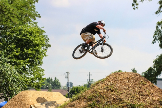 The TRA Grindlab Jam is more than just comps and 20 inchers - Erik Williams enjoys some air time on the big bike during the jam.  (Photo: Troy Zeigler / Elevated Visuals)