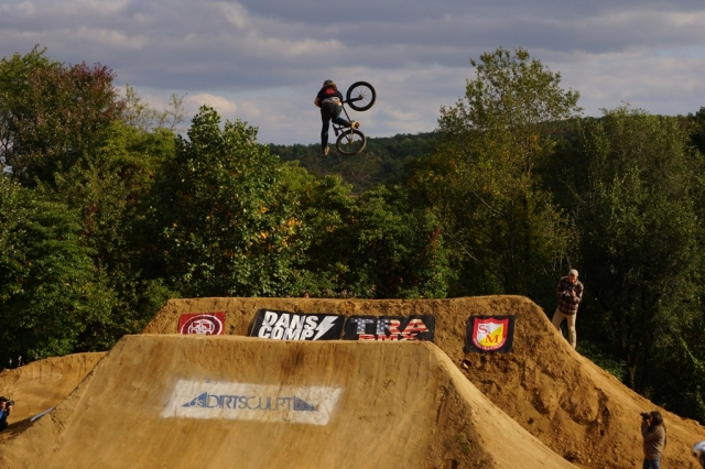 FIT's Chris Harti inverts this one-footed table for all its worth.  Photo: Al Cayne / Sugarcayne.com