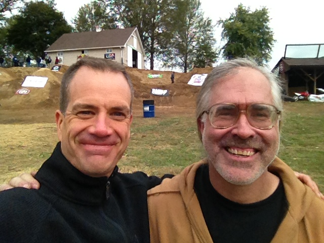 Black Track Locals. Rick Harvilla (right) is a motocross rider, old school BMXer, and legendary trail pioneer.  He's also been Mike Gentilcore's #1 trail building influence since the late 70's.  Rick still rides, builds trails, and always will!