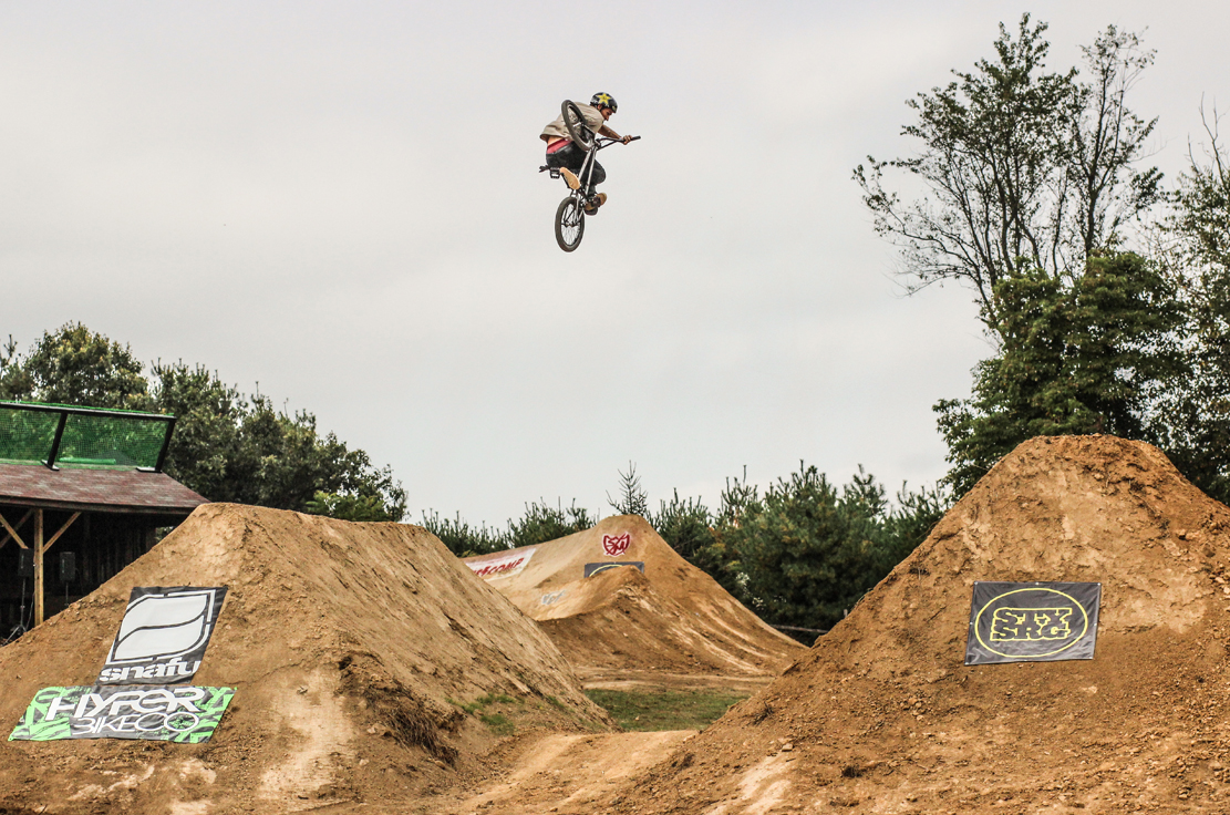 jump and motocross A motocross rider coming off a jump engines ranging anywhere in displacement from 49 cc to 195 cc a typical pit bike is usually a small dirt bike.